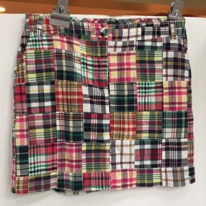 Tommy Hilfiger Madras plaid patchwork skirt
